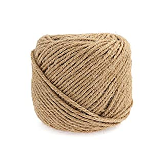 Lomofila Jute Twine, 3mm Natural Strong Jute String 4Ply Natural Thick Jute Rope for Floristry, Tag, Gifts Wrapping, Office, Gardening Projects, Crafts DIY Decoration (164 Feet)