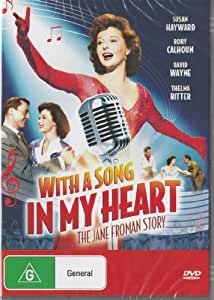 WITH A SONG IN MY HEART: The Jane Froman Sory (Susan Hayward, Rory Calhoun) 1952 - Region 2