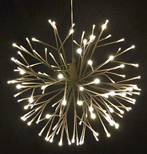 Weiße Led-licht-strang (Licht Deko Kugel LED Indoor weiss Xmas Weihnachten (45x45cm))