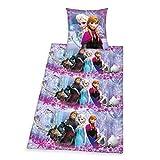 Herding 448040050412 Bettwäsche Walt Disney's Die Eiskönigin, Kopfkissenbezug: 80 x 80 cm und Bettbezug: 135 x 200 cm, 100% Baumwolle, Renforce