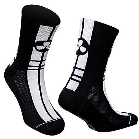 Samson Hosiery ® Unisex Cycling Socks Black and White Team Racer Road Bicycle BIKE Sport Socks