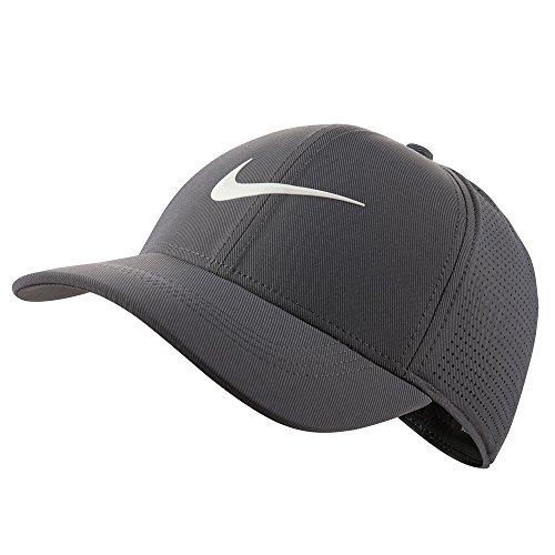 Nike AeroBill Legacy 91 Golf-Cap, Grau (Gris 021), S/M - Nike Dri-fit-golf Langarm