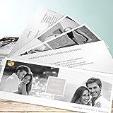 Hochzeits Einladungskarten, Unbedingt 200 Karten, Kartenfächer 210x80 inkl. weißer Umschläge, Weiß