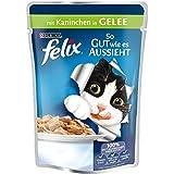 Felix So gut wie es aussieht Katzenfutter Kaninchen, 20er Pack (20 x 100 g) Beutel
