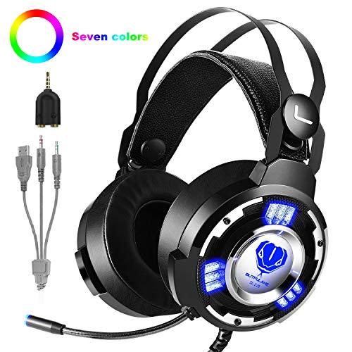 T98 Gaming Headset PS4 Kopfhörer, Stereo mit Mikrofon 3.5mm Surround Sound Geeignet für Nintendo Switch,Xbox One,Mobile,PS4,PC (5 Fällen Kinder-ipod)