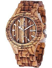 AMPM24 WDW003 - Reloj Hombre Madera Natural Fecha de Marrón