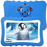 TOPSHOWS Kids Tablet,7 pollici 1024×600 HD,Allwinner Quad Core CPU,1GB+8GB DDR3,iWawa Software preomstallato,Blu