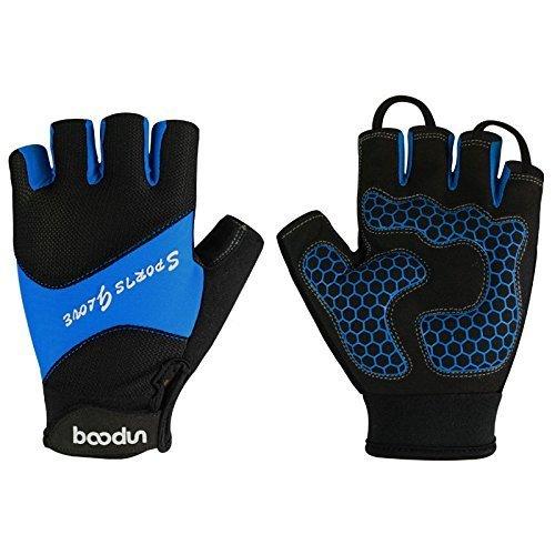 DeLong CG-22 Fingerlose Fahrrad-Handschuhe aus Mikrofaser, blau, M-Hand circumference[7.5-8.3]inchs (Bike Womens Shorts Padded)