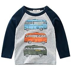 Idea Regalo - Snyemio Bambino Maglietta Maniche Lunghe Casual Cotone t Shirt