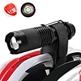 Maketheone Helmet Torch Flashlight Headlamp MTB Lights Bike Front Rear Light Set Rechargeable Bicycle light Kit Bright Torch+Tail Light+18650 Battery+Universal Charger+Helmet Mount+Bicycle Mount