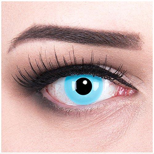 Meralens blaue Kontaktlinsen, Sky Angle mit Pflegemittel ohne Stärke, 1er Pack (1 x 2 Stück)