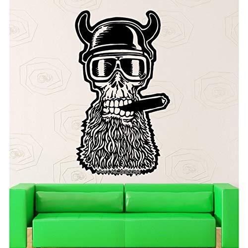 Design Unico Skull Adesivo Moto Casco Wall Sticker Vinyl Decalcomanie Arte Soggiorno Divano Sfondo Decor Wallpaper 56X97cm