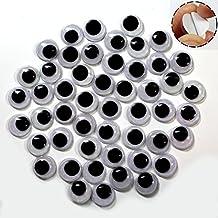 Sunmns 750 St/ück verschiedene Augen zum Basteln mit Selbstklebstoff
