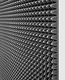 10 Pannelli fonoassorbente 100x100x3 Cm 10mq piramidale per correzione audio in poliuretano