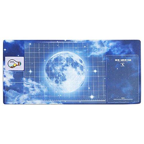 multifonction Tapis de table, Doulukit PVC pour carte Manomètre à cadran XXL clavier Motif Unique Tapis de souris (700* 330* 2mm), C, 700*330*1.8mm