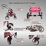 Chilly Kids Dino Kombikinderwagen (Regenschutz, Moskitonetz, Schwenkräder) 01 Schwarz & Weiß - 5