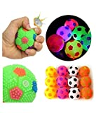 #4: Smiles Creation Soft & Squeezy Bouncing Ball with Flashing Lights Toy For Kids - Set of 2 (Multicolour)