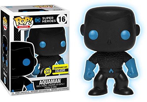 Funko Pop! Liga de la justicia del vinilo Aquaman Silhouette Glow in the Dark Exclusive