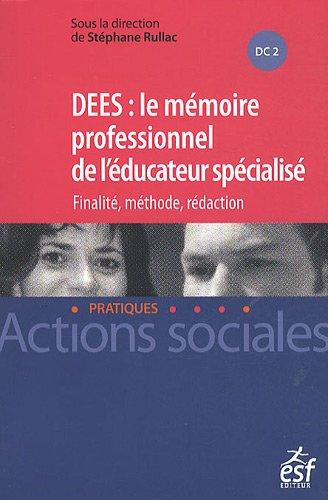 DEES : le Mémoire de l'éducateur spécialisé