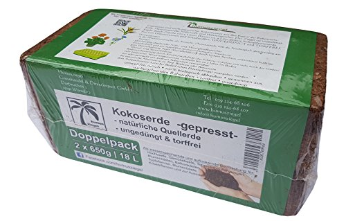 Humusziegel Lot DE 2 flacons de 650 g de lubrifiant pour Plantes en Fibre de Coco 18 l