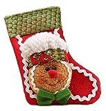 Lukis Nikolausstiefel Weihnachtsstrümpfe Anhänger Tannenbaum Weihnachtsdeko Socke 14x9cm Rot