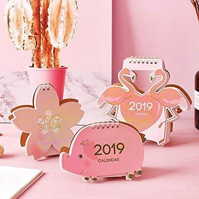 SMAQZ Colorido Modelado Escritorio Calendario Dibujos Animados Modelado Escritorio Calendario Creativo Pequeño Calendario Fresco de SMAQZ