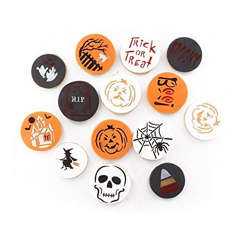 Halloween Dekoration Schablone Keksform Lebensmittelqualität Kunststoff 14 Stück Plätzchen Schablone