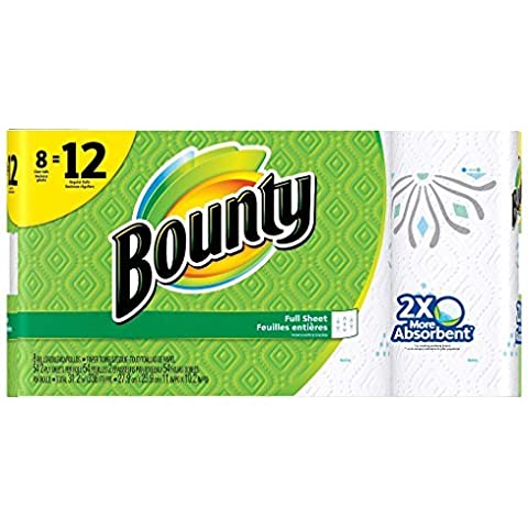 Bounty Printed Paper Towels 8 Giant Rolls by Bounty