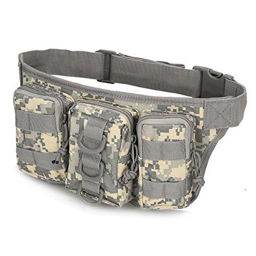 ruifu Military Taille Tasche Tactical Fanny Pack für Outdoor Sport Gürteltasche mit 3Fächern Tasche ACU