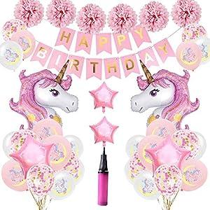 LOBKIN Unicornio Decoración de cumpleaños