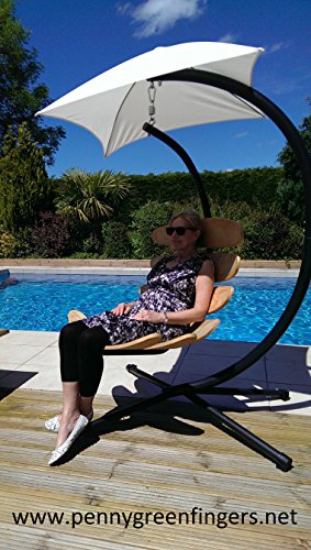 Huevo colgante columpio silla asiento y soporte para hamaca, tumbona silla de toldo Pennygreenfingers