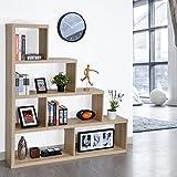 Étagère de livres en bois Stockage de bibliothèque, 4 Etagères, escalier Divider Armurerie Meuble de bureau