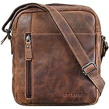 5f6bac9ff8a089 STILORD 'Quentin' Borsello in pelle Borsa uomo piccola vintage con tracolla  per un Tablet