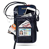 FREETOO Passport Pouch Travel Wallet Documents Holder with RFID Blocking Security for Credit Cards and Passport