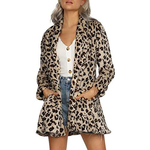 FRAUIT Blazer Mujer Estampado de Leopardo Chaqueta de Traje Manga Larga Solapa Oficina Negocios Casual Cardigan de Abrigo Vintage Elegante Primavera Invierno Trajes y Blazer Tops