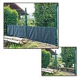 DEMA Sichtschutzzaun - Sichtschutz 25 x 1,0/1,2/1,5/1,8 und 2 Meter dunkelgrün (25 x 1.00 Meter)