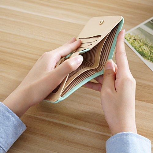 La signora breve due volte portafoglio pack card Piccolo fresco Modelli Femminili morbida Wallet Mianbao Student ( colore : Nero ) Violet