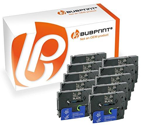 Bubprint 10 Schriftbänder kompatibel für Brother TZE-325 TZE325 für P-Touch 1280 2430PC 2730VP 3600 9500PC 9700PC D400VP D600VP H100LB H105 P700 P750W -