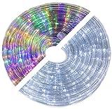 20m LED Lichtschlauch mutlicolor und weiß schaltbar 360 LEDs 8 Programme