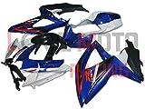 LoveMoto Verkleidung für GSX-R600 GSX-R750 K8 2008 2009 2010 08 09 10 GSXR 600 750 ABS Spritzguss Kunststoff-Motorradverkleidung-Sets Blau Weiß