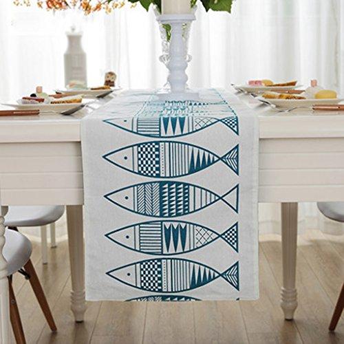 QiangZi Table Runner Rouge / Bleu Nappe De Mariage De Mariage Douche De Bébé Usage Quotidien Cuisine Salon Napperon, 32 * 198CM ( Couleur : Bleu , taille : 32*150CM )