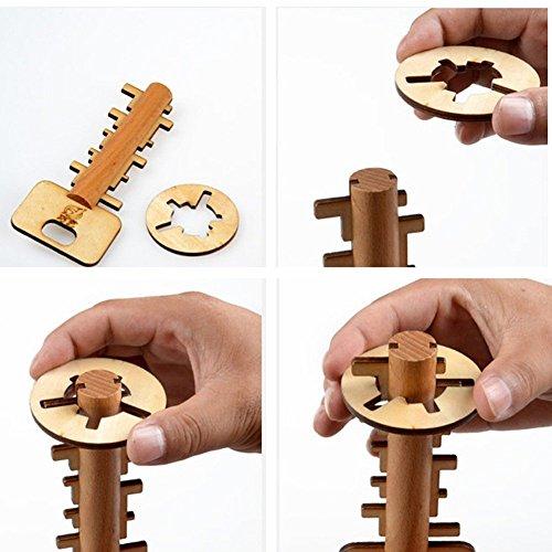 Bamboo Déverrouiller clés, Jouet éducatif et Intelligent pour adultes et enfants
