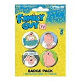 FAMILY GUY - PETER - BADGE PACK - PACK OF 4 X 38MM BADGES - BRAND NEW