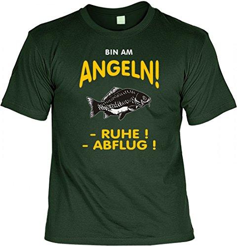 Modicana® T-Shirt - Bin am Angeln... RUHE ! ABFLUG ! - lustiges Funshirt Angler