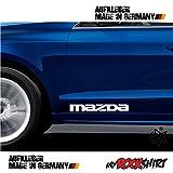 2 x Mazda Aufkleber 30 x 5 cm Aufkleber Autoaufkleber Auto Tuning Sticker Aufkleber mit Montage Set inkl.