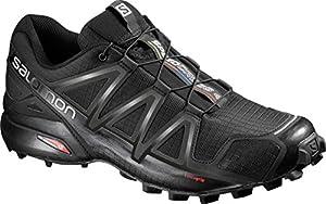 Salomon Herren Speedcross 4 Traillaufschuhe, schwarz (black/black/black metallic), 45 1/3 EU
