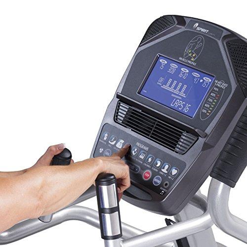 Spirit Fitness xe795Crosstrainer Cross Trainer, Fitness, Bewegung, Fitnessstudio, MP3-Audio Jack und Lautsprecher, Blau beleuchtetes LCD-Display, 12Trainingsprogramme, 40Widerstandslevel, eingebauter Ventilator, robusten Rahmen - 6