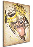 Instabuy Poster Dragon Ball Wanted Goku SS3 (Variant) - A3 (42x30 cm)