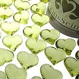 EinsSein 30x Dekosteine Funkelnde Herzen 22mm hellgrün Dekoration Streudeko Konfetti Tischdeko Hochzeit Hochzeit Konfetti Diamanten Diamant Glas groß
