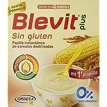 Blevit Plus, Cereales para bebé , sin gluten- 2 de 600 gr. (